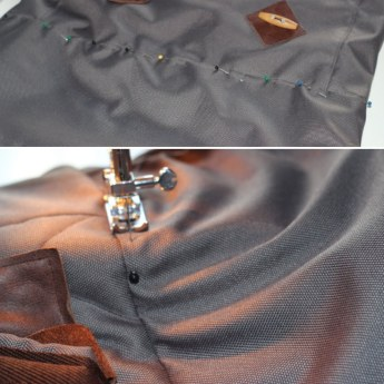 over-stitching the top