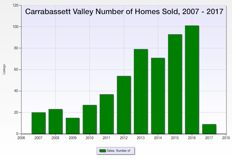 Carrabassett Valley Maine Homes and Condos Sales Chart