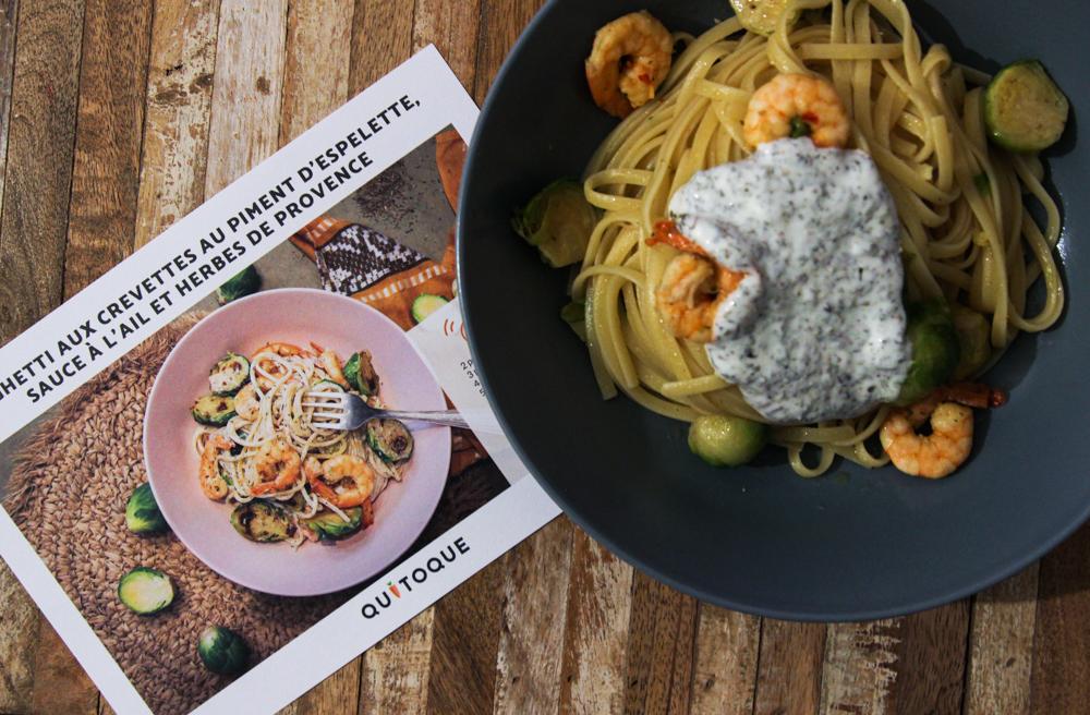 Spaghettis aux crevettes Quitoque