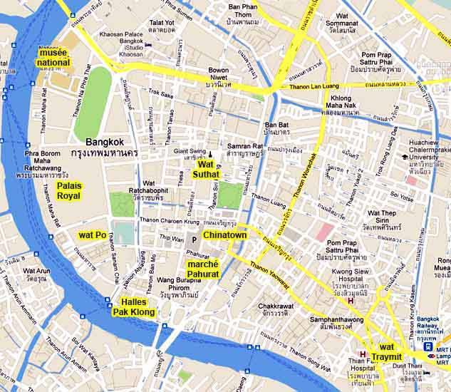 carte centre bangkok les bons plans de stef