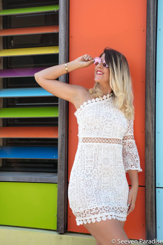 robe en dentelle blanche portée par les bons plans de stef