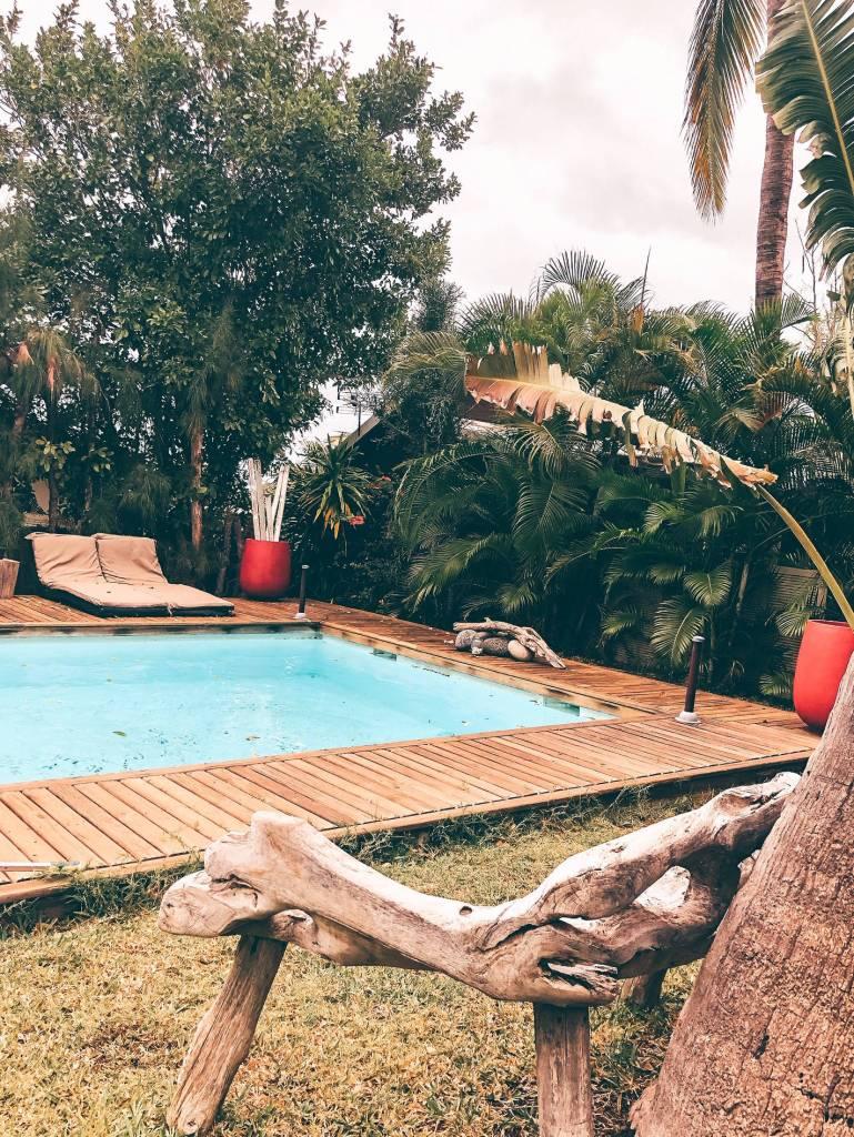 piscine de la maison des palmes à la saline