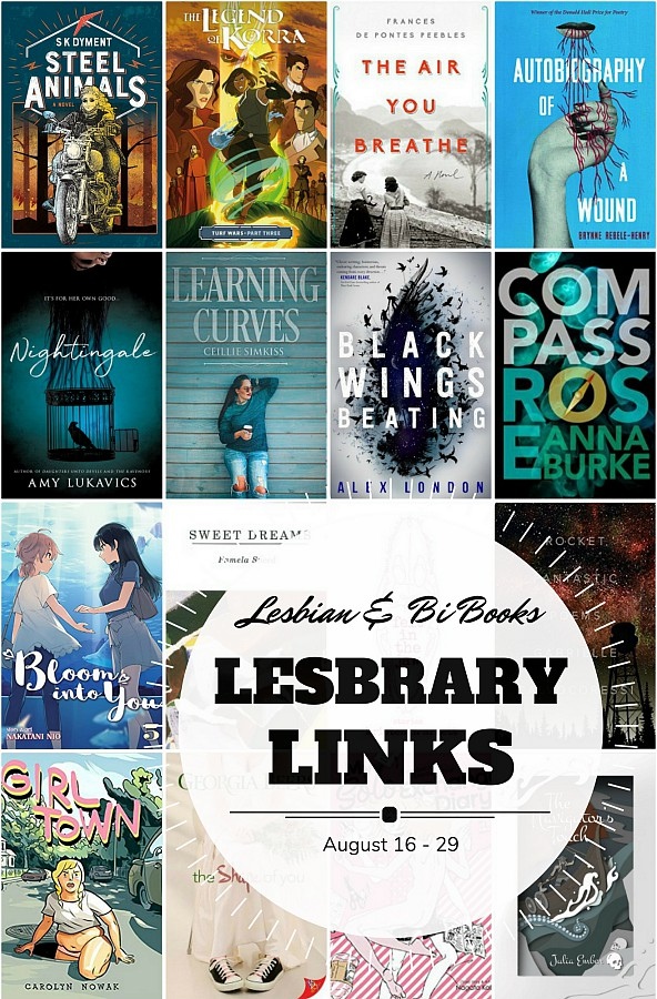 Cover collage with the text Lesbrary Links: August 16 - 29