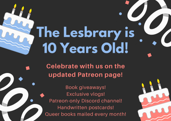 The Lesbrary is 10 years old! graphic