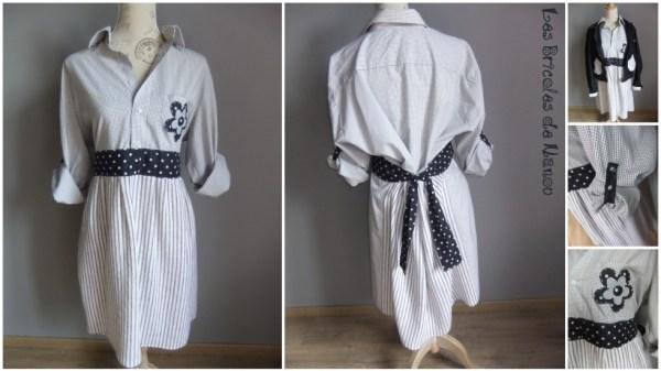 Robe customisation  chemise en robe