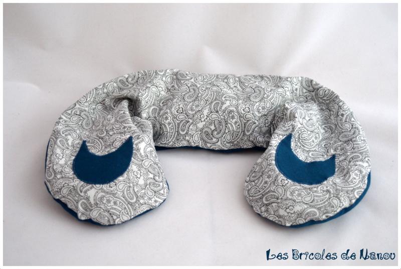 Bouillottes cervicales bleu