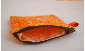 Porte monnaie orange