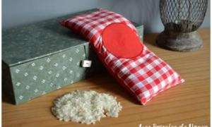 Bouillottinette rouge à carreaux