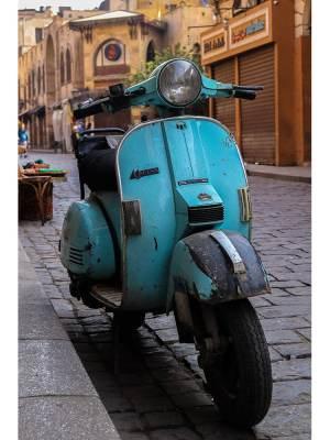 Vespa bleue