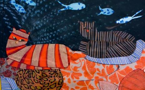 Chats de Bréhat et poissons de nuit 2018 Collection privée
