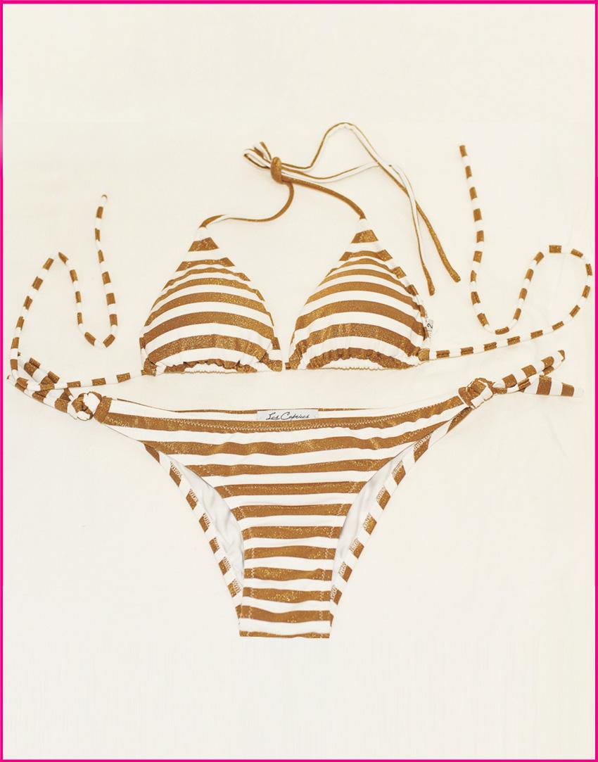 Bikini Triangolo Saint Tropez - Costume da bagno fatto a mano Les Caprices