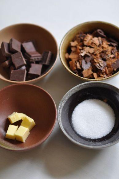 Ingrédients de la mousse au chocolat