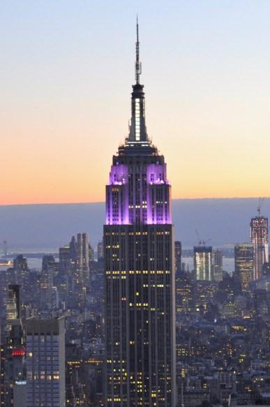 Empire State Building illuminé