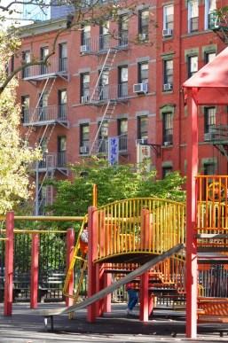 Les jeux du parc de Colombus Park à New York