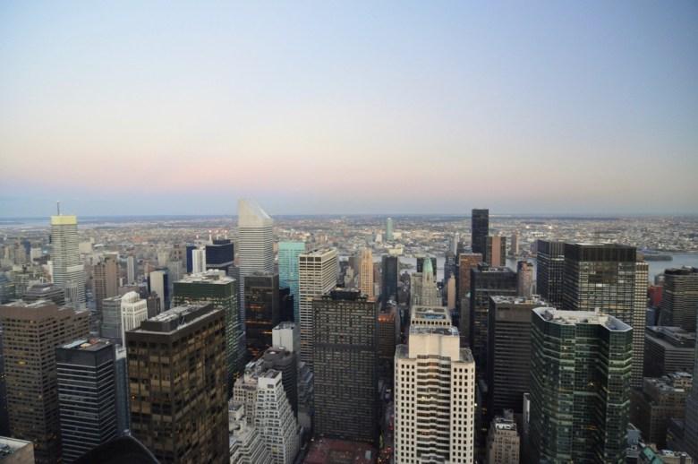 La vue depuis Top of the Rock