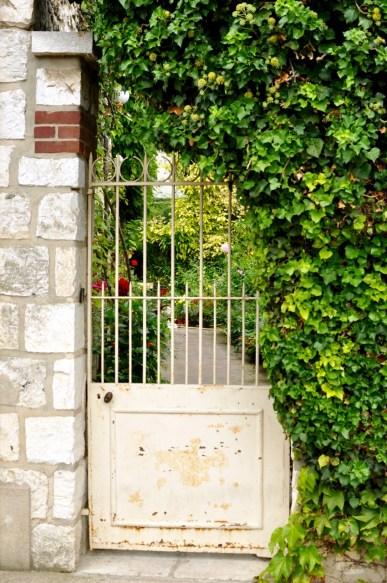 L'entrée du jardin à Giverny