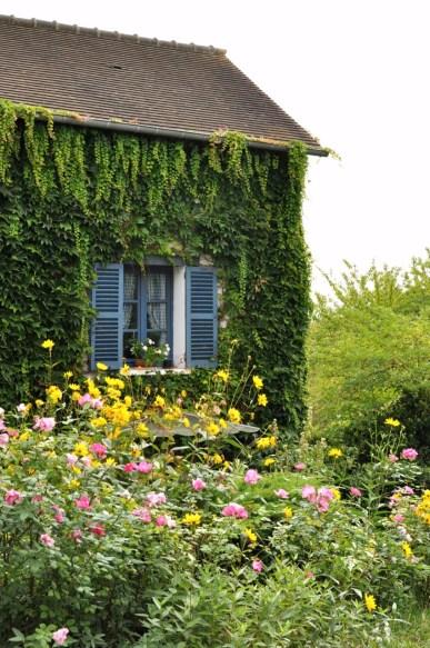 Le parc de l'hôtel Baudry à Giverny