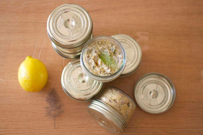 Rillettes de maquereaux au citron et à l'aneth