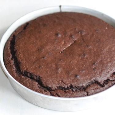 Gâteau au yaourt, au chocolat et à la farine de châtaignes