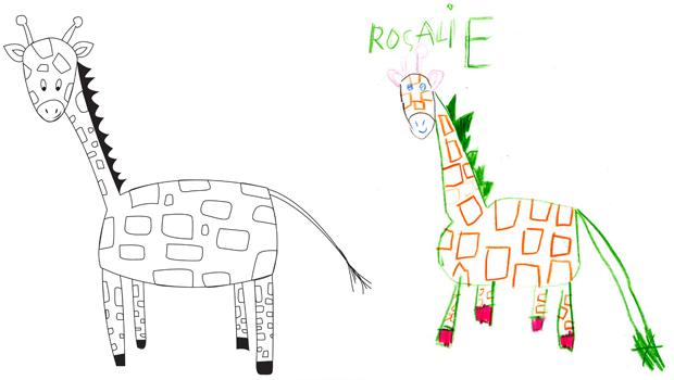Comment dessiner une girafe les carnets de c leste - Comment dessiner un lion ...