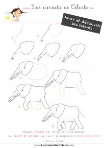 Comment dessiner un éléphant ‹ Les carnets de Céleste