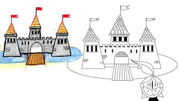 Comment Dessiner Un Château Fort Les Carnets De Céleste