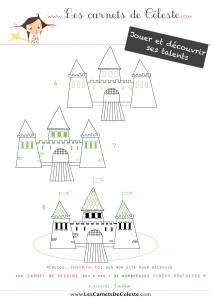 Comment dessiner un Château Fort ‹ Les carnets de Céleste