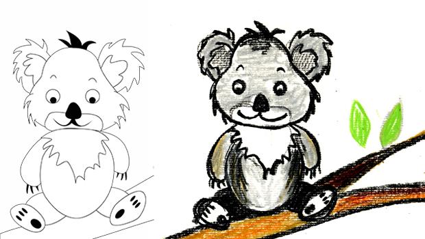 Comment Dessiner Un Koala Les Carnets De Celeste