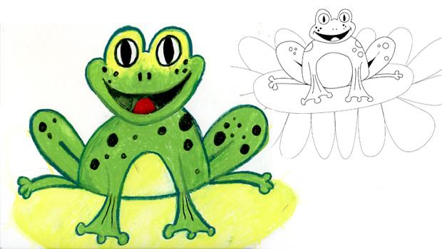 Comment dessiner une grenouille verte les carnets de c leste - Dessin de grenouille verte ...