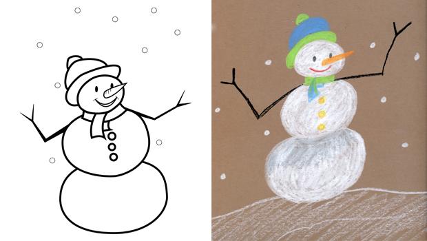 Image a dessiner super heros facile a dessiner coloriage apprendre a dessiner exercices de - Dessin bonhomme de neige facile ...