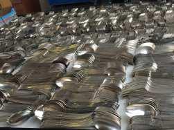 Des couverts en argent