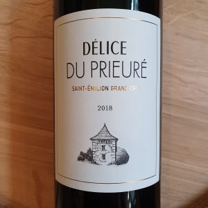 Délice du Prieuré – Saint-Emilion Grand Cru 2018