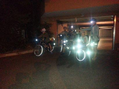 Départ de France : 4h du mat, 25 km de vélo