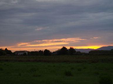 Couché de soleil à San Miniato