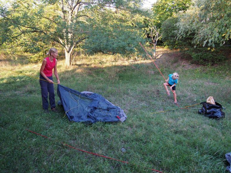 Montage des tentes