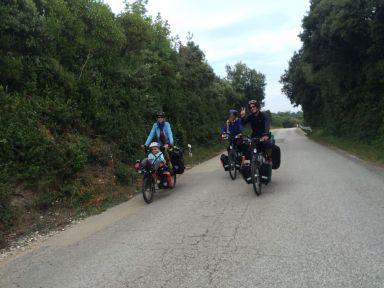 Un bout de route avec Brigitta et Pascal (cyclos belges)