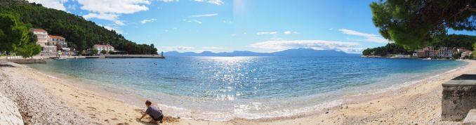 Cadre de nos pique-niques en Croatie