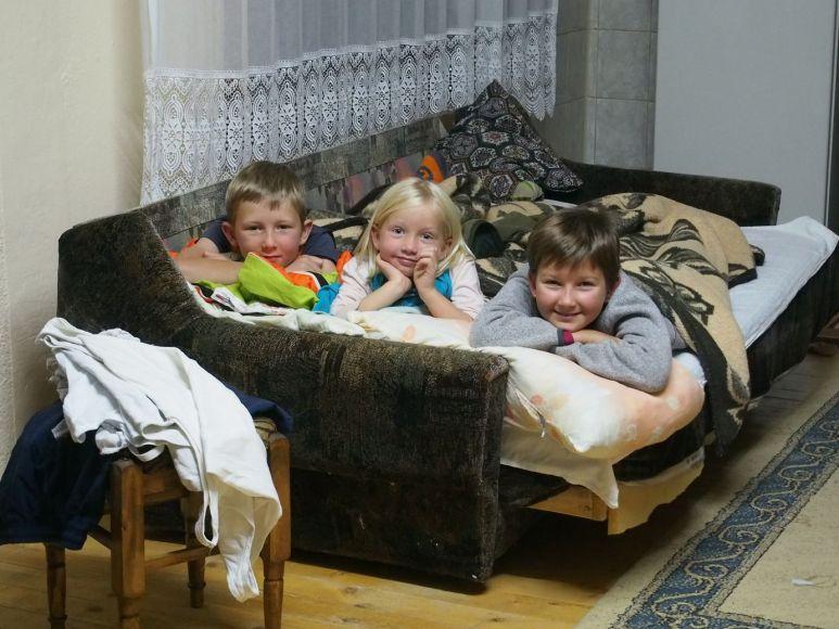 Chouette un vrai lit au chaud