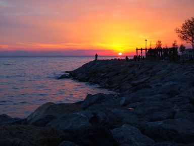 Coucher de soleil sur la mer de Marmara