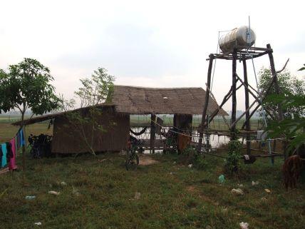 La hutte au bord de l'étang