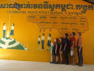 Visite de l'orphelinat de la communauté adventiste