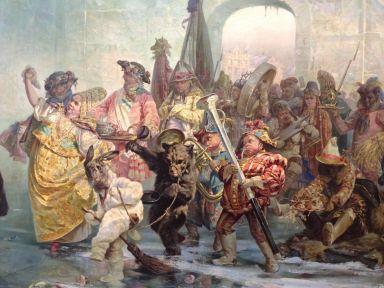 Détail d'un tableau du musée russe