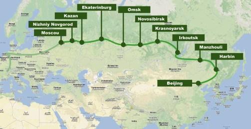 Parcours du Transsibérien