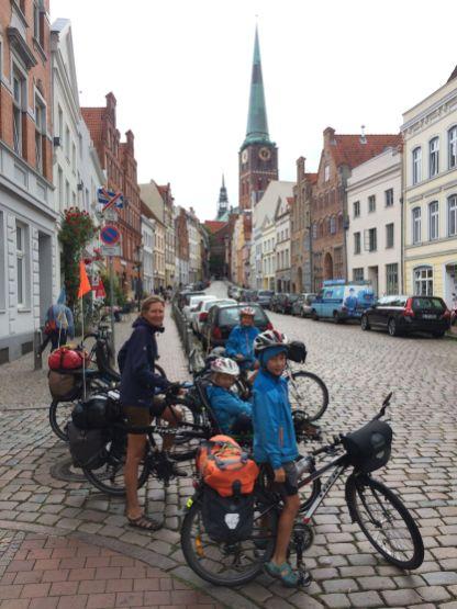 Arrivée humide sur Lübeck