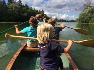 En canoé sur la Wakenitz...