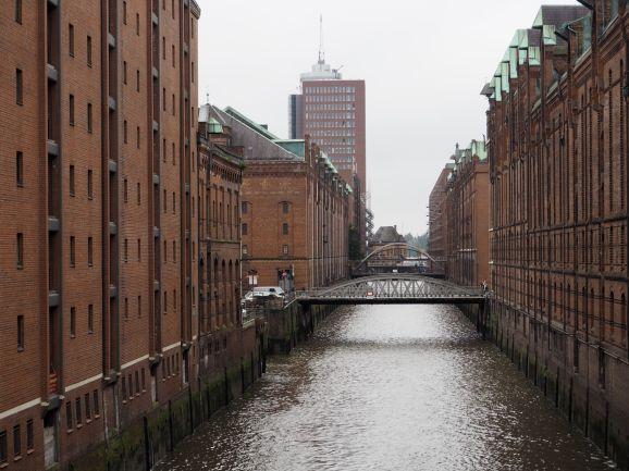 Les anciens entrepôts du port de Hamburg