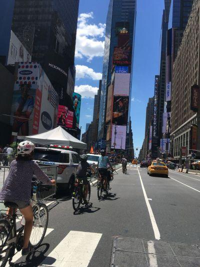 Times Square à vélo