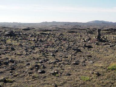 l'activité volcanique a créé des paysages quasi lunaires