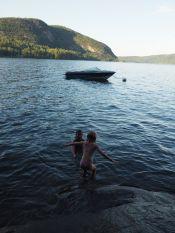Agréable baignade en fin de journée