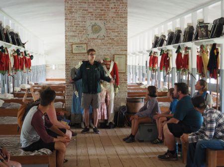 Dans la caserne britannique de Fort Lennox sur l'île au Noix